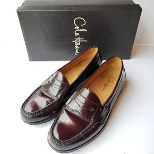 Cole Haan burgundy Pinch Penny slip-on loafers